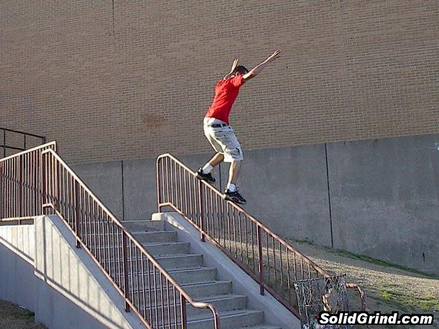 Chris Corrado hittin a Steep Frontside