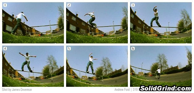 Sequence of Andy Ford (Fordy) busting a 270 backside royale during the recent UKFSW Ipswich trip.