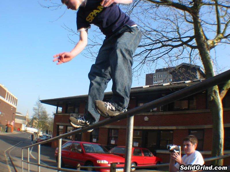 Dunk hittin a Royale on the Wolsey rail, Ipswich