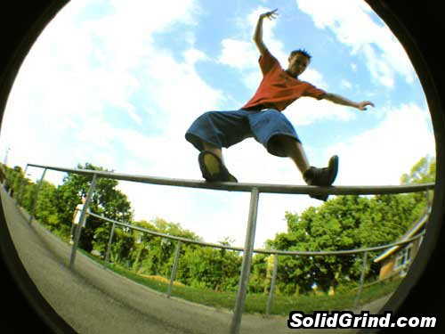 Mart hittin a Royale on one of the huge rails at Beaumont School, St Albans