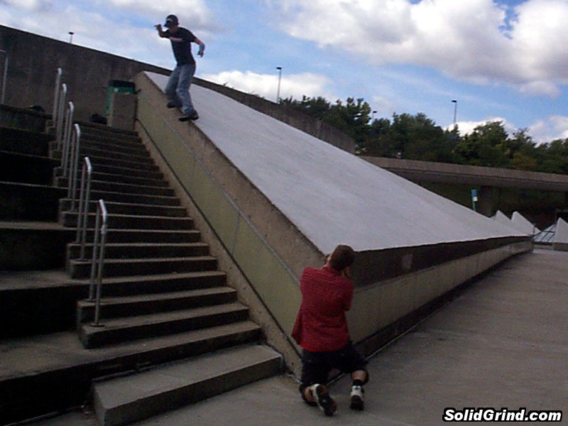 greg morris hittin a backside at olympic stadium