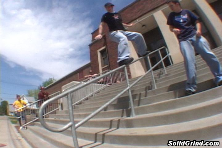 Jordan Muck hittin a frontside at the Monmouth High School