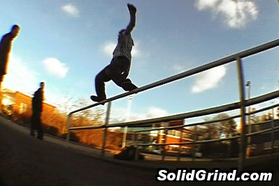 Louis Selby, knocking out another frontside for the bystanders during the UKFSW Fleet trip.