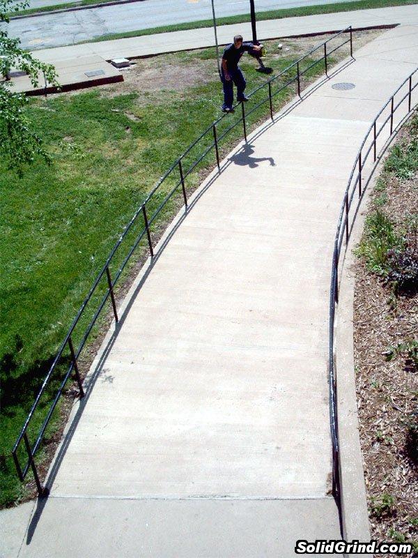 Aaron Tarabloletti sliding a huge frontside at WIU.