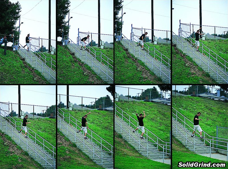 Sequence of Bryndon sliding a huge kink.