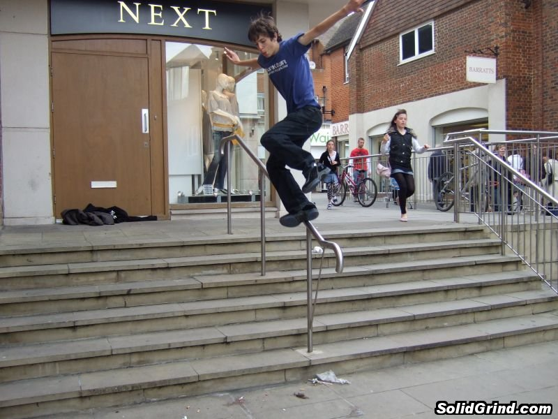 Stuart Pickston with a Freestyle Backslide on the Next rail