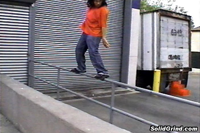 AnthoFlex hitting a Frontside on the Scaturro SuperMarker Loading Dock Rail