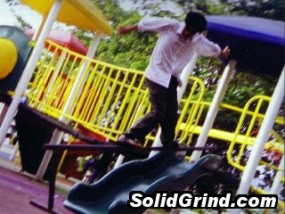 Yassir playing on the playground