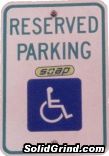 Handicapped Soaping at the Post Office