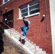 Aaron Stunkard hittin a Sliding a pink handrail